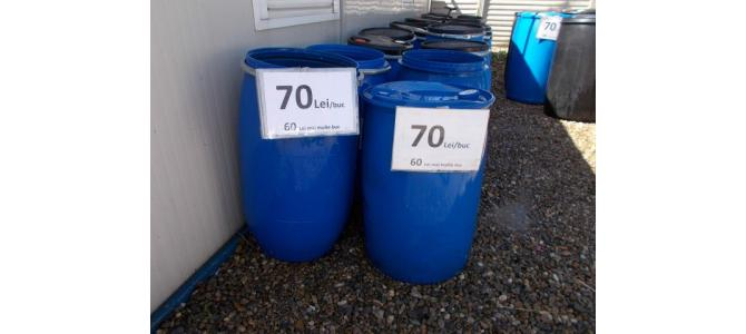 Butoi  rezervor de apa PVC 130 litri de la 60Lei,  6mm