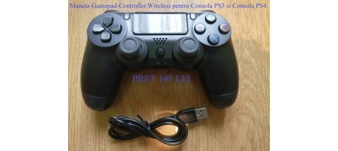 Vand Maneta-Gamepad-Controller Wireless Consola PS3-PS4 NOU Pret 145 Lei