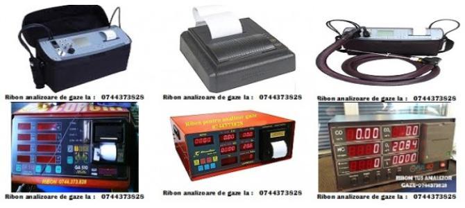 Riboane cu tus si role hartie pentru analizoare de gaze