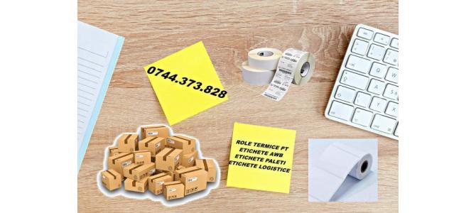 Rola etichete AWB termice autocolante, etichetare paleti,