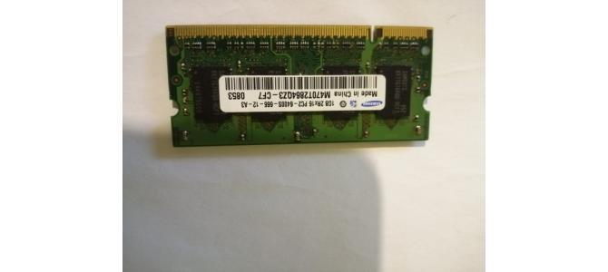 Memorie Laptop Ram Samsung M470T2864QZ3-CF7, 1Gb DDR2 800Mhz Pret 10 Lei