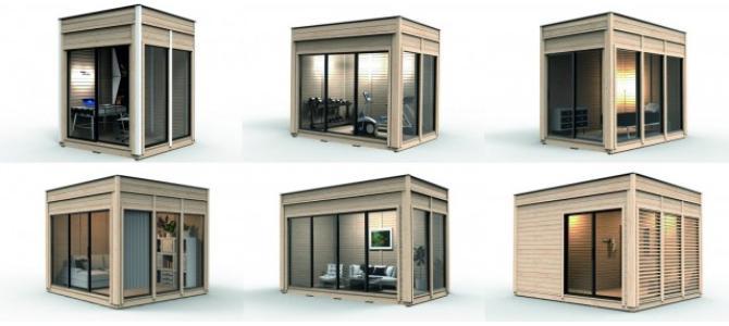 Casa mobila de vacanta camping din lemn