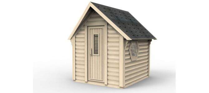 Mini sauna casa mobila