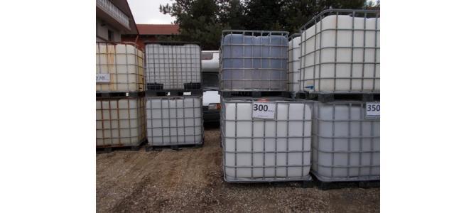 ibc container cub  de apa 1000 litri la Oradea la 300 Lei