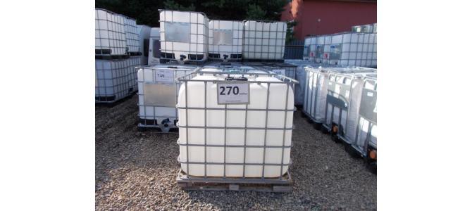 ibc 1000 lit container la Oradea, 270 Lei,  pe palet de Lemn