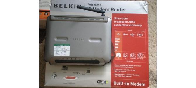 Belkin ADSL2+ Modem with Built-in 125g Wireless Router