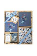 Set cadou bebe 5 piese 0-6 luni Elefant Tom Kids