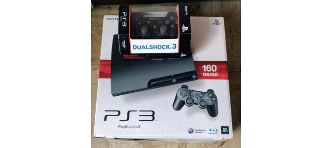 De vanzare PS3 Slim 160Gb+2 manete+jocuri