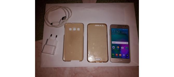 Samsung Galaxy A3 A300FU Gold 16Gb + Husa + Folie Sticla 330 Lei